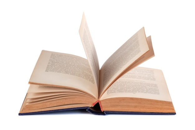 Open book isolated on white, education