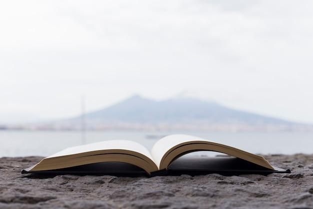 Open book near the sea