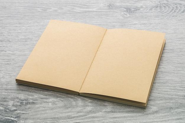 Open brown book