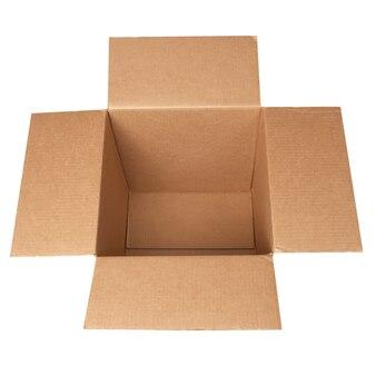 Open carton box isolated on white background