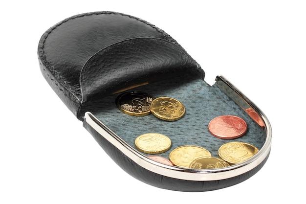 흰색 바탕에 오픈 변경 지갑