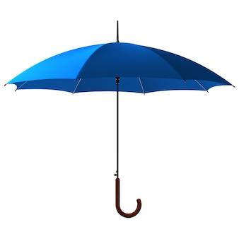 Открытый классический синий зонтик-трость