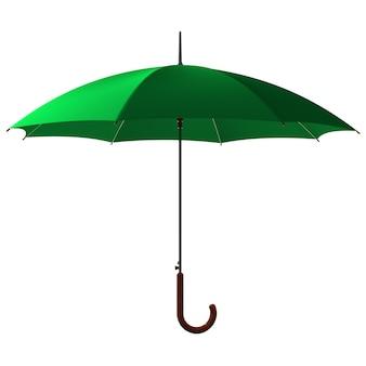 Открытый классический зеленый зонтик-трость