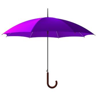 Открытый классический фиолетовый зонтик-палка