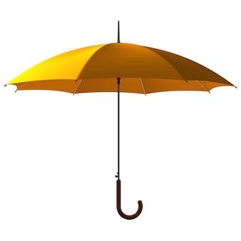 Открытый классический желтый зонтик-трость