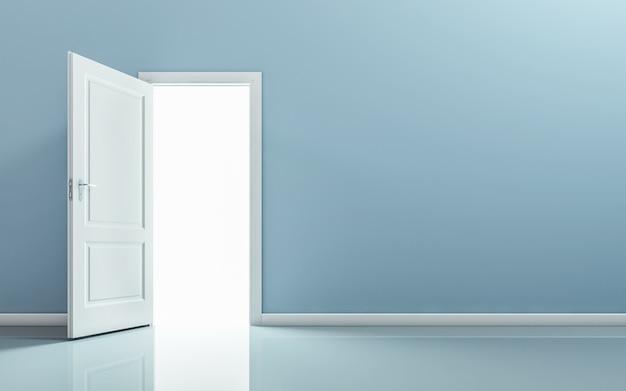 Open door in empty room
