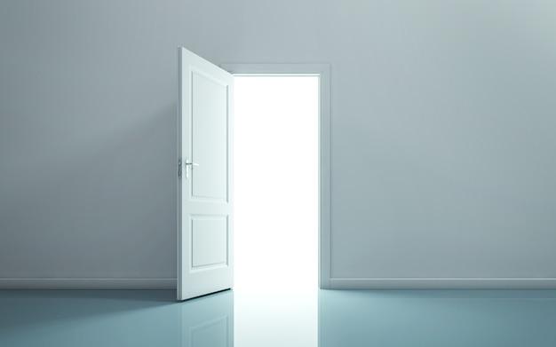 空き部屋のドアを開ける