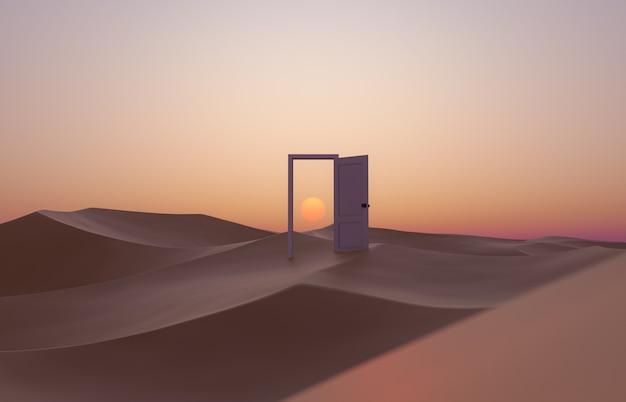 砂丘のドアを開ける