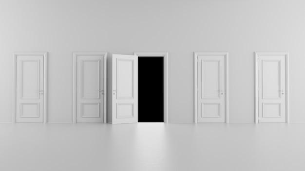 暗い部屋に通じるドアを開ける