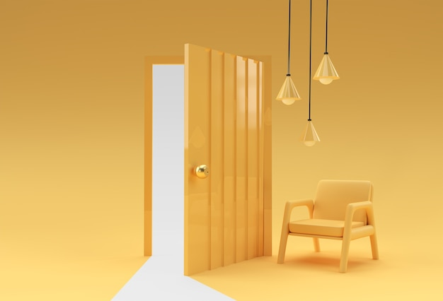 Open door symbol of new career, opportunities, business ventures and initiative.