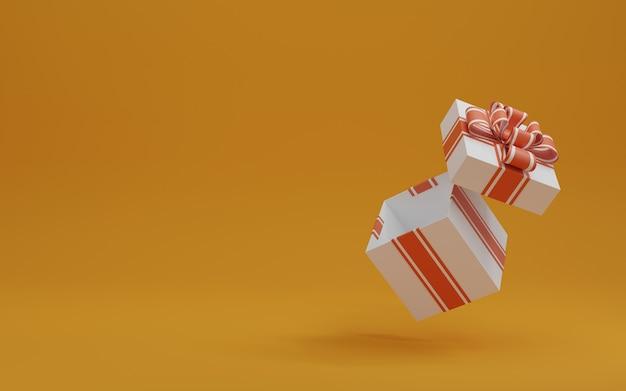 Открыть подарочную коробку на фоне