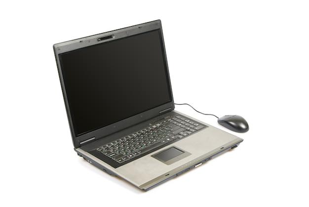 흰색 절연 오픈 노트북