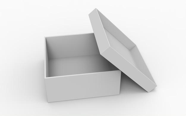 Открытые квадратные коробки с открытой крышкой