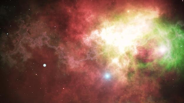 Открытое пространство, звезды и туманности в космосе