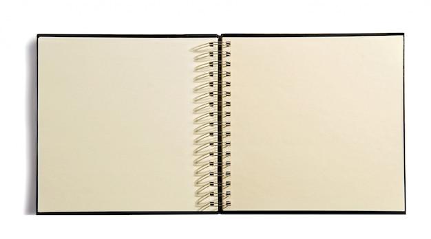 Open spiral bound agenda book