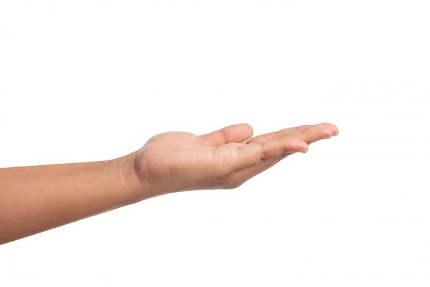 Откройте ладонь левой руки, чтобы что-то умолять