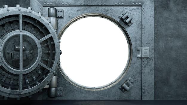 Открытая дверь хранилища в банке