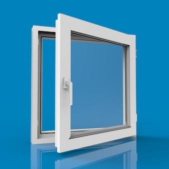 파란색 창 열기