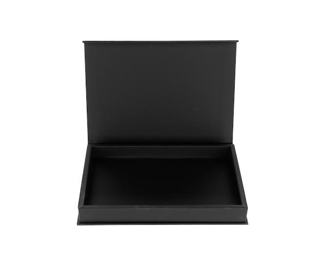 Open wooden black box