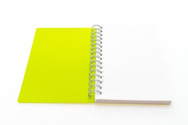 Open yellow notebook