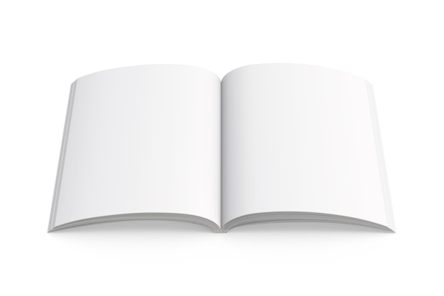 Opened a4 notepad mockup for education and business