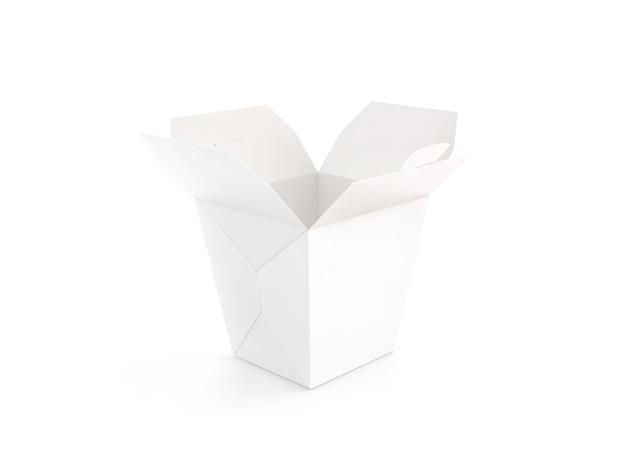 Открытая пустая подставка для макета бокса вок