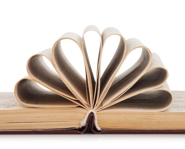 ファンテイルシートが分離された開封された本