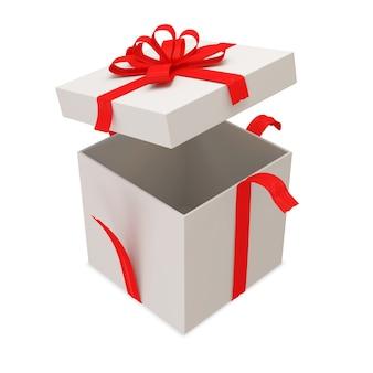 Открытая подарочная коробка изолирована