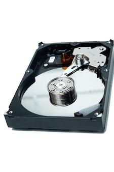 Открыл жесткий диск с компьютера hdd disk drive с зеркальными эффектами разобрал жесткий диск с компьютера