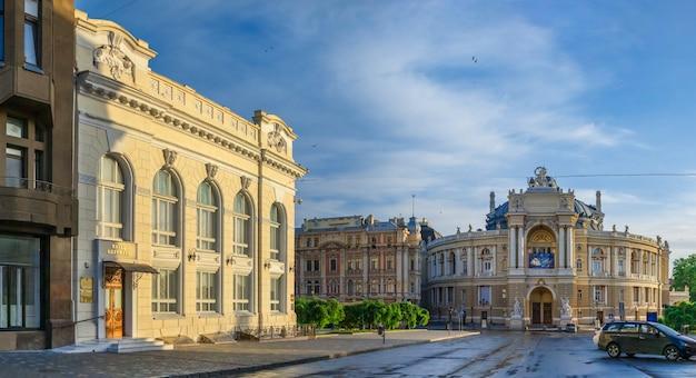 Opera house and theatre square in odessa, ua
