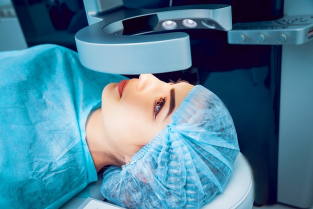 The operation on the eye. cataract surgery.