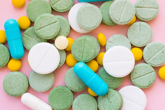 Opioid pills. opioid epidemic and drug abuse concept