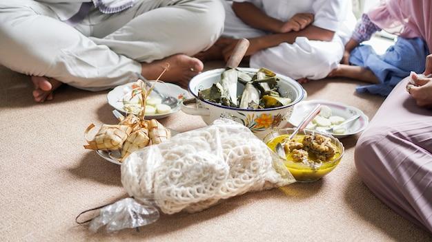 Opor and ketupat indonesian food for idul fitri