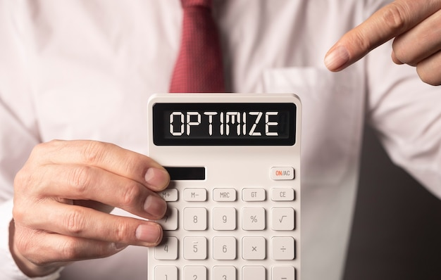 Оптимизировать концепцию оптимизации налогов и финансов