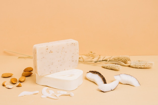 Oraganic soap bar by almonds and coconut