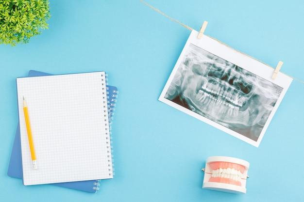 Oral hygiene prevention concept dentist desk