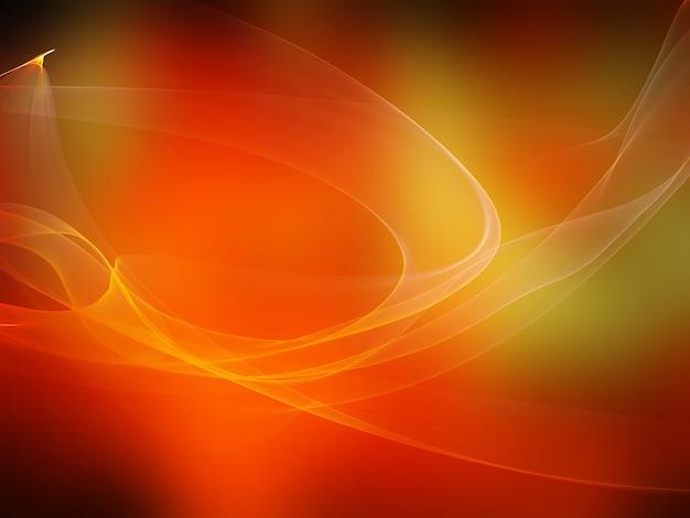 Arancione sfondo astratto con le onde