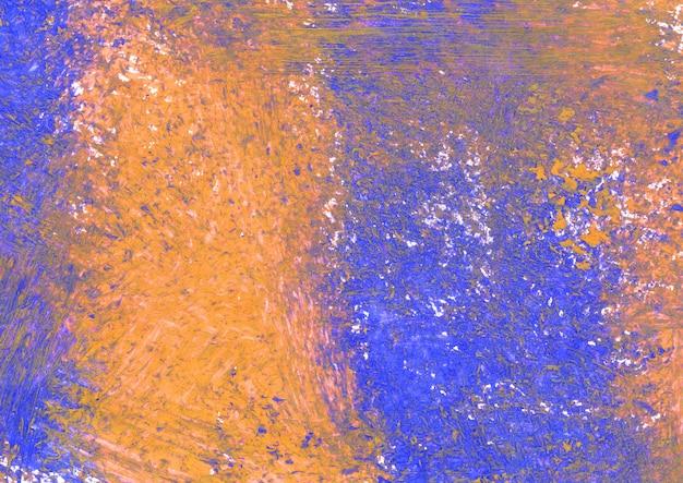 Оранжевая и синяя акварель