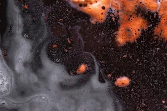 Orange and gray foam