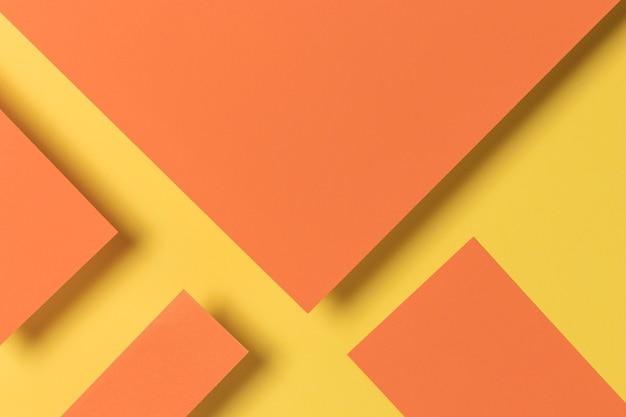 オレンジと黄色の食器棚