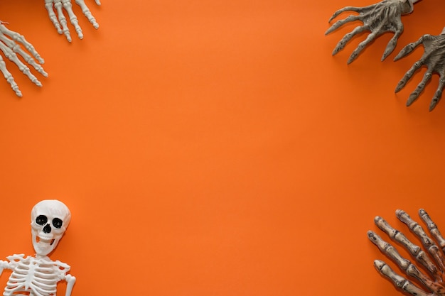 ハロウィーンのオレンジ色の背景