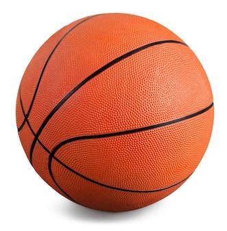 흰색 바탕에 오렌지 농구 공