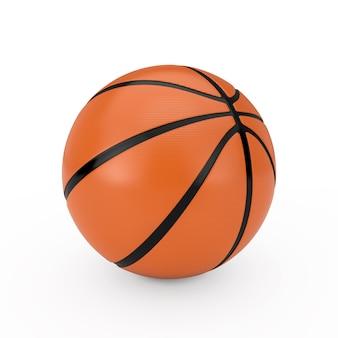 Orange basketball ball on a white background. 3d rendering