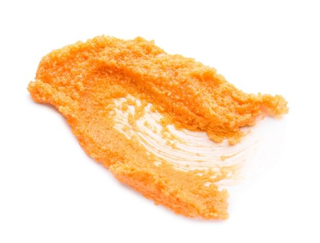 화이트에 오렌지 바디 스크럽