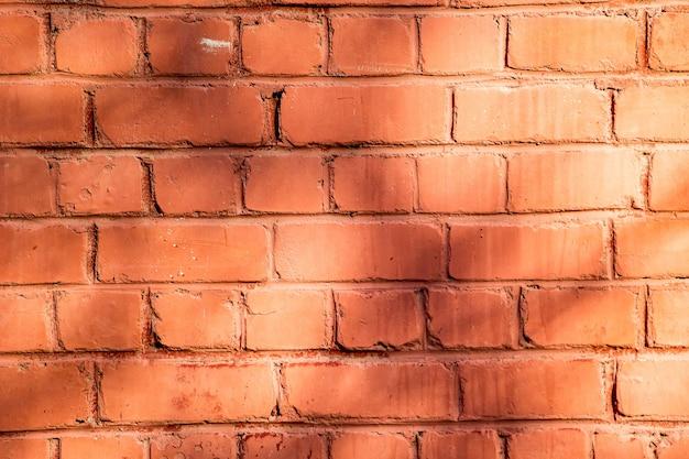 オレンジ色のレンガの壁、デザインの質感