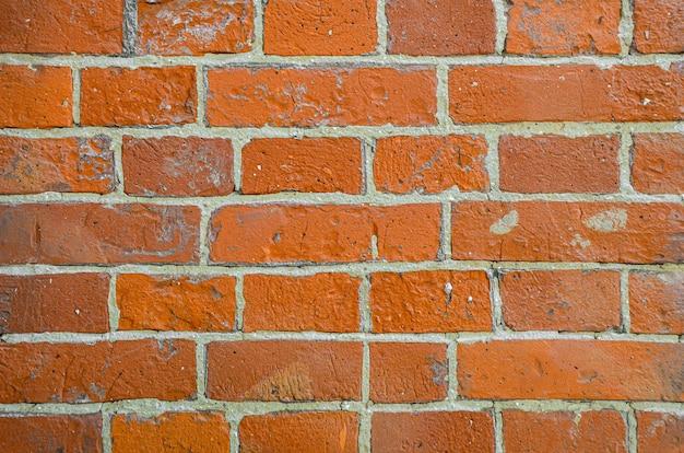オレンジ色のレンガの壁