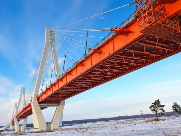 Оранжевый мост в небе