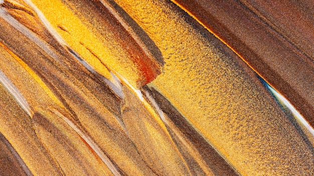 きらびやかな塗抹標本とオレンジブラウンの背景。メイクのコンセプト。お祭りの背景