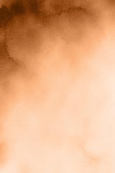 オレンジブラウンの水彩画の背景