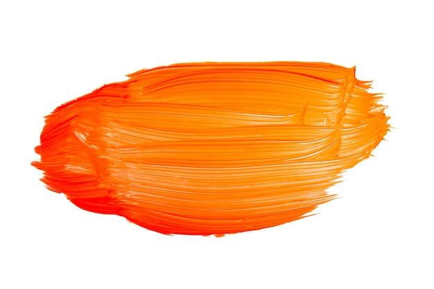 オレンジ色のブラシストローク